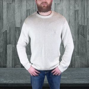 Chaps white ivory cream sweater size large